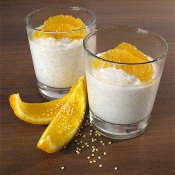 Rezept Joghurt-Hirse-Dessert mit Orangen