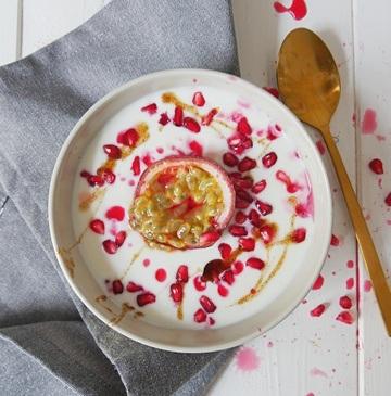 Rezept Joghurt mir Maracuja, Granatpfel und Vanillepaste