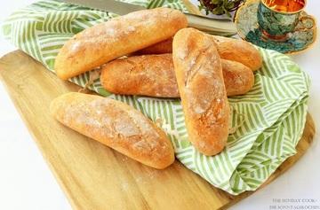 Rezept Joghurt-Parmesan Baguettes