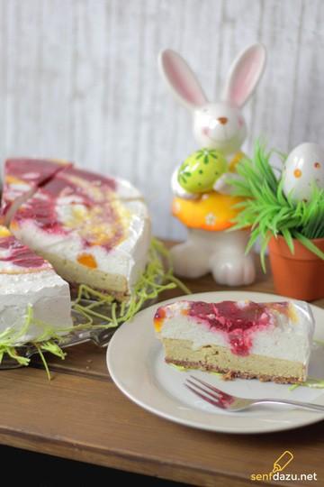 Rezept Joghurt Wirbel Torte Himbeere / Mandarine