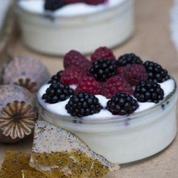 Rezept Joghurtbeeren mit Mohnkrokant