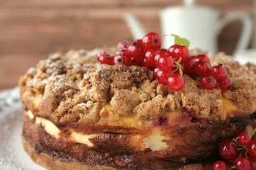 Rezept Johannisbeer-Käsekuchen mit Vanillestreuseln