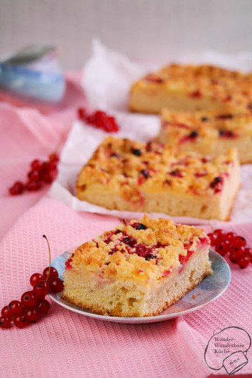 Rezept Johannisbeer-Vanille-Kuchen vom Blech