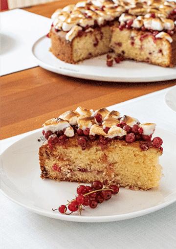 Rezept Johannisbeerkuchen mit Marshmallow-Topping