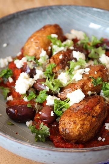 Rezept Junge Kartoffeln in pikanter Tomatensauce