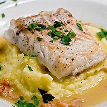 Rezept Kabeljau mit Szechuanpfeffer-Krabben-Sauce und Kartoffel-Knoblauch-Püree