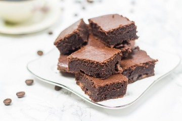 Rezept Kaffee-Brownies/ Coffee Brownies