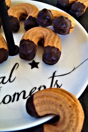 Rezept Kakao Spritzgebäck mit Nougatglasur