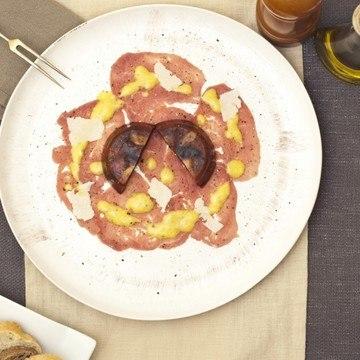 Rezept Kalbscarpaccio mit Tomaten-Vanille-Cassata