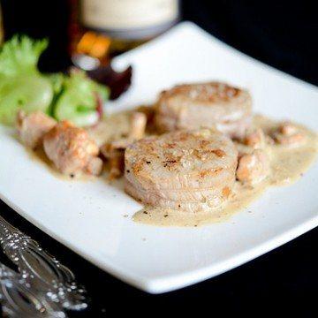 Rezept Kalbsmedaillons mit Pfifferlinge und Calvados-Sauce