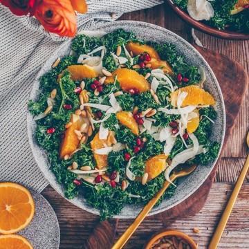Rezept Kale Salat mit Orange und Fenchel