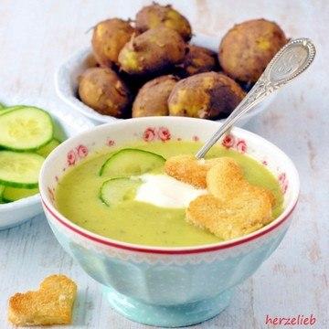 Rezept Kalte Gurken-Kartoffelsuppe