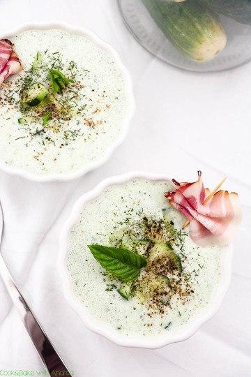 Rezept Kalte Gurkensuppe mit Dill und Minze