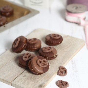 Rezept karamel brezel cookies