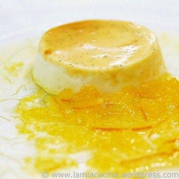 Rezept Karamell Panna Cotta mit Pomeranzen-Mandarinensauce