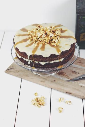 Rezept Karamell-Popcorn Torte