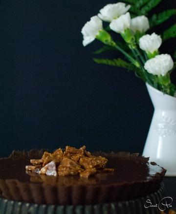 Rezept Karamell Tarte mit gesalzenen Macadamia
