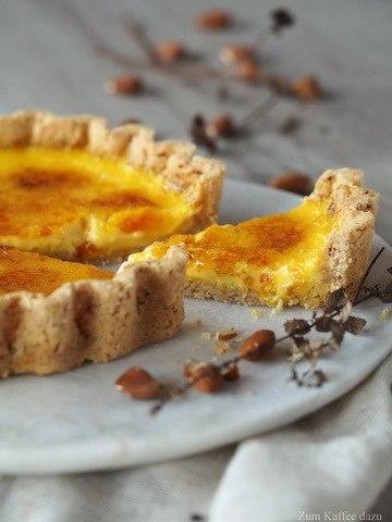 Rezept Karamellisierte Orangen-Tarte mit Safran
