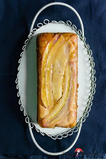 Rezept Karamellisierter Honig-Bananen-Kuchen mit Dinkelvollkornmehl als Upside-Down