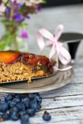 Rezept Karamellisierter Pfirsich Upsidedown Kuchen