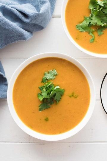 Rezept Karibische Kürbis-Suppe mit Curry und Kokosmilch