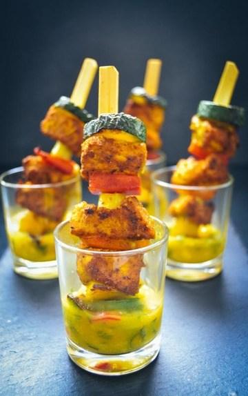 Rezept Karibischer Hähnchenspieß mit Mango-Salsa