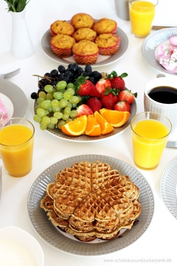 Rezept Karotten-Goji-Muffins + Orangen-Chia-Waffeln