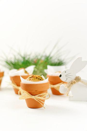Rezept Karottenkuchen im Blumentopf