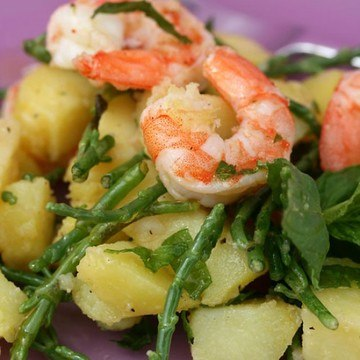 Rezept Kartoffe-Meeresspargel-Salat