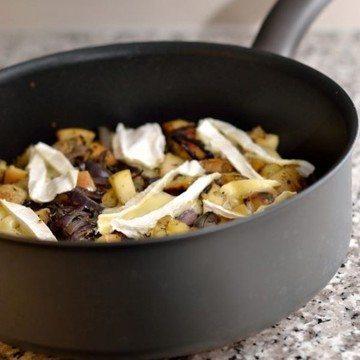 Rezept Kartoffel-Apfel-Pfanne mit Brie