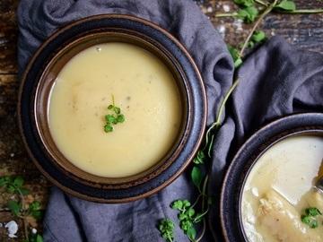 Rezept Kartoffel-Apfel-Suppe mit geräuchertem Aal