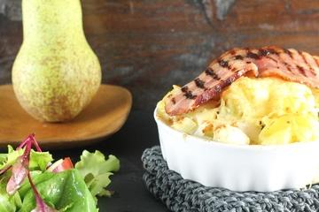 Rezept Kartoffel-Birnen-Auflauf mit Speck