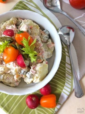 Rezept Kartoffel-Gemüsesalat mit Joghurt-Schmanddressing