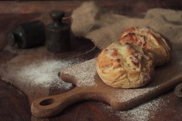 Rezept Kartoffel-Käse-Krusti mit Speck