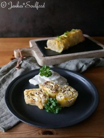 Rezept Kartoffel-Rolle mit Steinpilzen