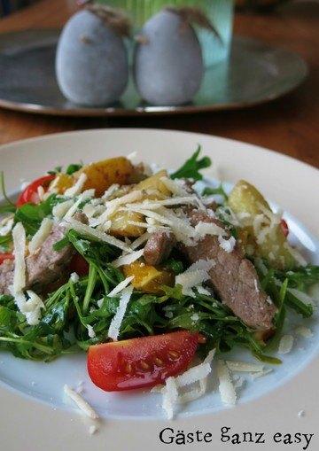 Rezept Kartoffel-Rucola-Salat mit Lammfilet