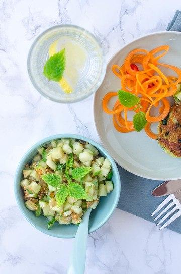Rezept Kartoffel Spinat Taler