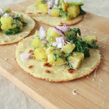 Rezept Kartoffel-Tacos mit selbstgemachten Tortillas