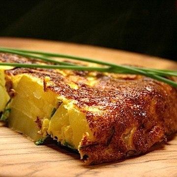 Rezept Kartoffel-Tortilla mit Wasabiquark
