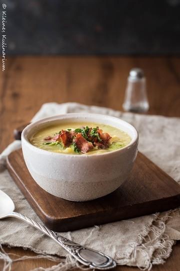 Rezept Kartoffel-Wirsing-Suppe mit Speck