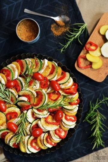 Rezept Kartoffel-Zucchini-Tarte mit Ziegenkäse