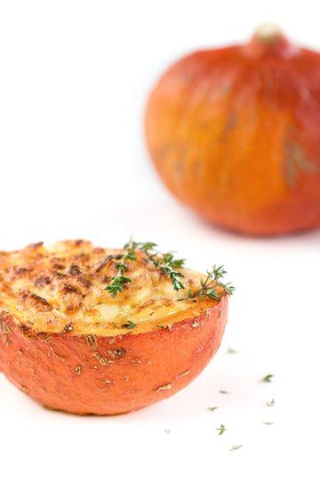 Rezept Kartoffelgratin im Kürbis