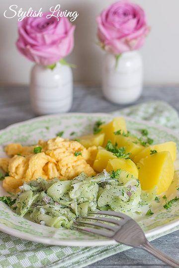 Rezept Kartoffeln, Gurkensalat nach Tim Mälzer und Rührei