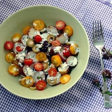 Rezept Kartoffeln mit Feta und Oreganoblueten