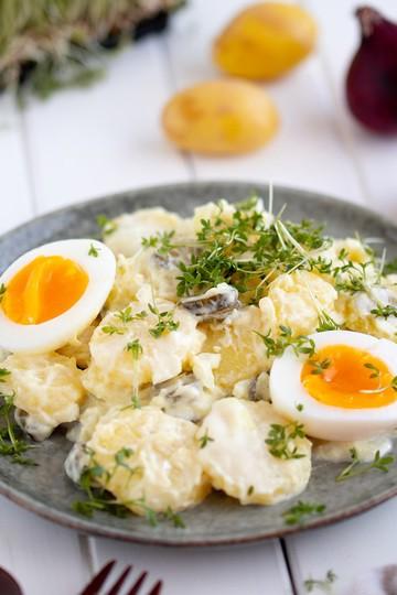 Rezept Kartoffelsalat mit Ei und Kresse