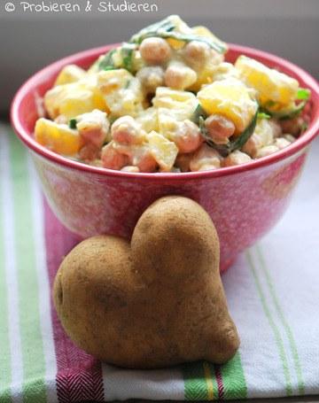 Rezept Kartoffelsalat mit Kichererbsen & Joghurt {Channa Kulcha}