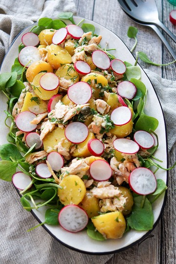 Rezept Kartoffelsalat mit Räuchersaibling