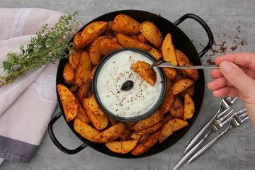 Rezept Kartoffelspalten mit Tzatziki