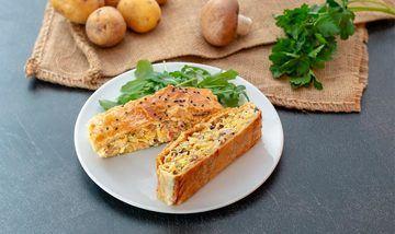 Rezept Kartoffelstrudel mit Pilzen, Käse & Schinken