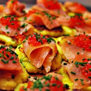 Rezept Kartoffeltaler mit Lachs